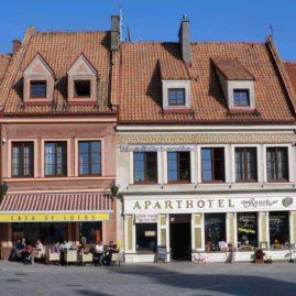 Restauracja i hotel na rynku w Sandomierzu